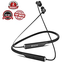 ONKEE OK-S7 Bluetooth 4.2 Wireless Magnetic Earphones Noise Cancelling Waterproof Earbud Headphones with Hands-Free Talk and 15-Hour Play Time (BLACK)