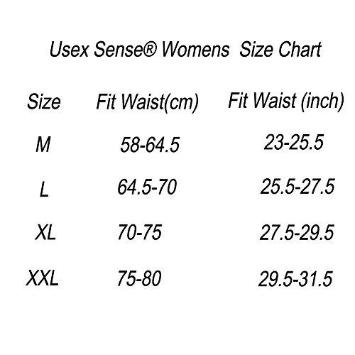 USex Sense - Culottes - para Mujer Braguitas paquete de 3/6 Black 3 pack