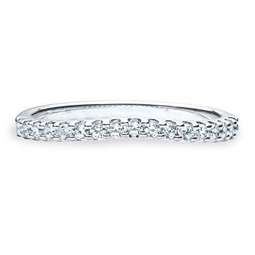 1/4 CT Diamond Contour Ring Guard, Diamond Ring Enhancer in Platinum, Size 3