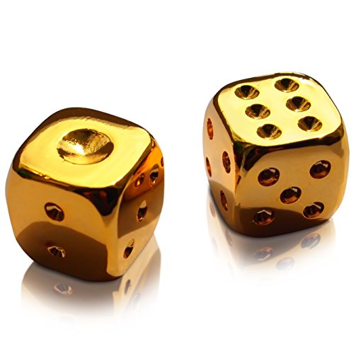 Gold Plated Dice Pair of Two Luxury Star Wars Gift Hans Solo Casino Rare in Luxury Velvet Pouch (Lucky Seven Dice)