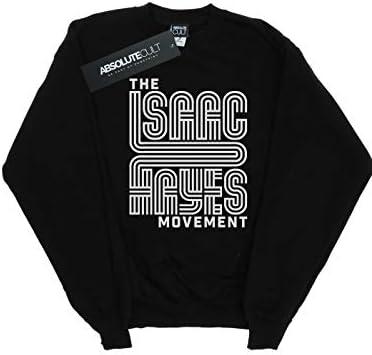 Absolute Cult Isaac Hayes Herren The Movement White Sweatshirt Schwarz XXXX-Large