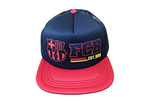 (FC Barcelona Hat Cap Adjustable 2-Tone-Navy/Maroon)