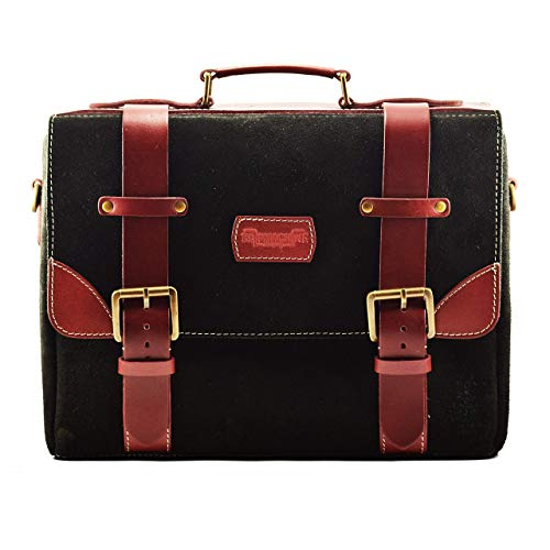 (Trip Machine Company Leather Hybrid Saddlebag/Sidebag Warrior Cherry Black)