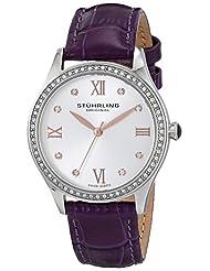Stuhrling Original Women's 431.02 Vogue Analog Display Swiss Quartz Purple Watch