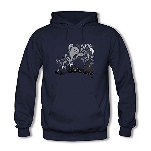 Men's Funny Ghost Pattern Cute Printed Hoodie Animal Unisex