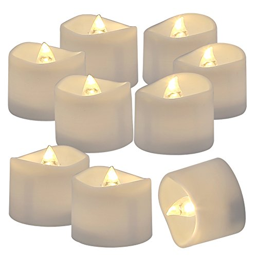 Homemory 72 Pack Flameless Flickering LED Tealight Candles Battery Operated Votive Tealight Electric Tea Lights, Warm -