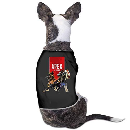 (MONIKAL Pet Dog Cat Clothes Apex-Legends-Becoming-A-Champion Fashion and Funny Puppy Clothes Soft Puppy Shirt Vest-Style Pet Costumes Black)