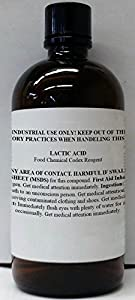 Lactic Acid 88% USP/NF Grade 120ml (4oz) in Glass Bottle by Consolidated Chemical & Solvents
