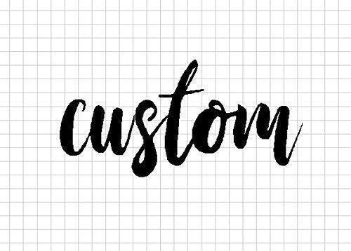 (Custom Text Raw Steel Unpainted Word Art)