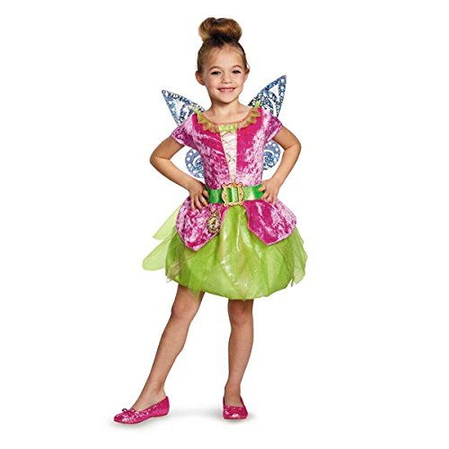 Disney's The Pirate Fairy Pirate Tinkerbell Classic Girls Costume, Small/4-6x (Tinkerbell Pirate Fairy Costume)