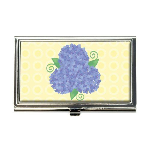 Hydrangea Flower Garden Trio Business Credit Card Holder Case ()