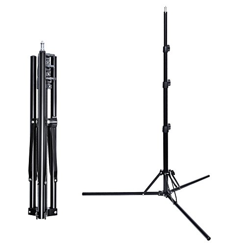 Fotoconic 6 ft/185cm Compact Portable Reverse Legs Aluminum Light Stand for Studio Photo Video Lighting by fotoconic