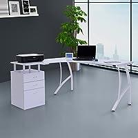 HOMCOM Mesa de PC Mesa de Ordenador Escritorio de Oficina Mesa con ...