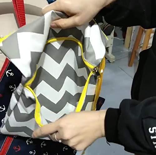 bolsa de pa/ñales Bolsa impermeable con cierre doble 31 snaked cat Bolsa de almacenamiento de pa/ñales para beb/és 39