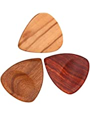 3x Wooden Guitar Pick Bass Guitar Plectrum for Music Instrument Parts