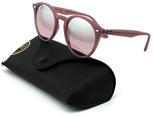 Ray-Ban RB2180 Unisex Round Sunglasses (Opal Antique Pink Frame/Pink Mirror Silver Gradient Lens 62297E, ()