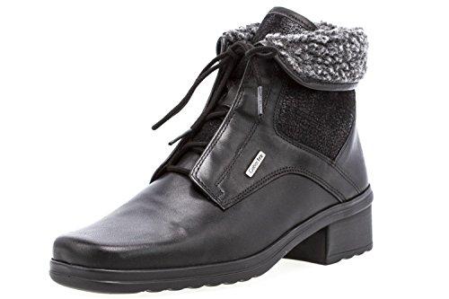 Damen Schwarz Gabor Schuhe Boots in Übergrößen w4q101