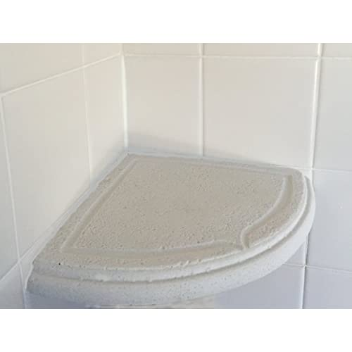 Add On White Stone Resin Shower Corner Soap Dish Shampoo Corner
