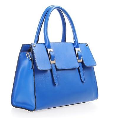 Fineplus Womens New Simple Split Cow Leather Shoulder Straps Handbag