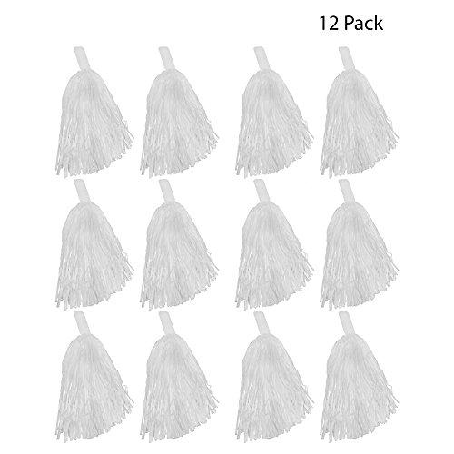 Windy City Novelties Cheerleader Pom Poms - 12 Pack (White)]()