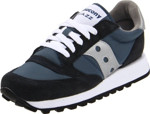 Saucony Originals Women's Jazz Original Classic Retro Sneaker, Navy/Silver, 9.5 M US