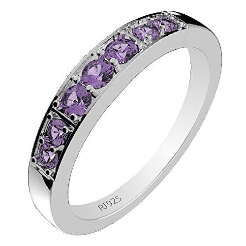 Stone Amethyst Ring - 7