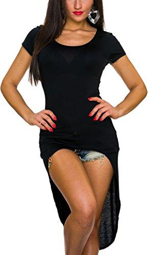 Vokuhila Kleid / Sweatshirt / Long-Pulli, Black