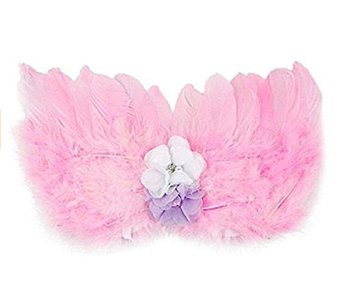 GUSTAVE® Photo Prop Outfit Baby Girl Angel Feather Wing Costume Chiffon with Headband Newborn Photo Prop Costume