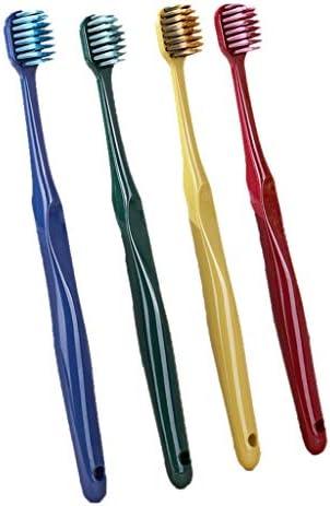 日本の歯ブラシ柔らかい毛皮ファインヘアースーパーファインスーパーソフト大人のカップル4色の包装エコフレンドリーステインクリーニング