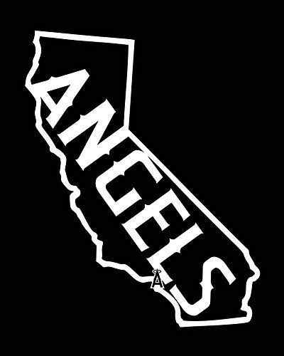 - CELYCASY LA Anaheim Angels California Logo Vinyl Decal - Car Window/Bumper Sticker - Computer Decal
