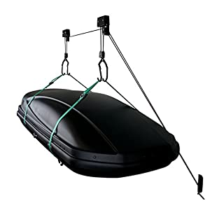 StoreYourBoard Cargo Box Ceiling Storage Hoist | Rooftop Carriers Hi-Lift Garage Pulley Hanger Rack