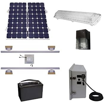 Amazon Com Suninone Solar Shed Lighting And Power Kit Ii