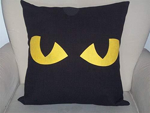 Halloween Pillow Cover, Spooky Eyes, Cat Eyes, Halloween Decor, Halloween Gift, Home Decor