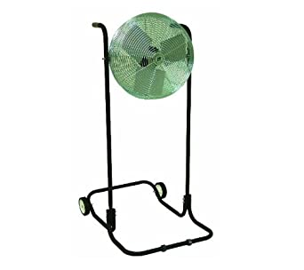 """TPI Corporation F24H-TE Industrial Workstation High Stand Fan, Single Phase, 24"""" Diameter, 120 Volt"""