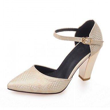 red RUGAI UE36 Mujer CN35 Moda Confort 5 zapatos UK3 de tacones casuales PU Beige UE US5 de sandalias Verano 5 774qF