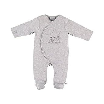 Noukies Pyjama 1PCS Jersey COCON, Pelele para Dormir Unisex bebé, Gris, 18-
