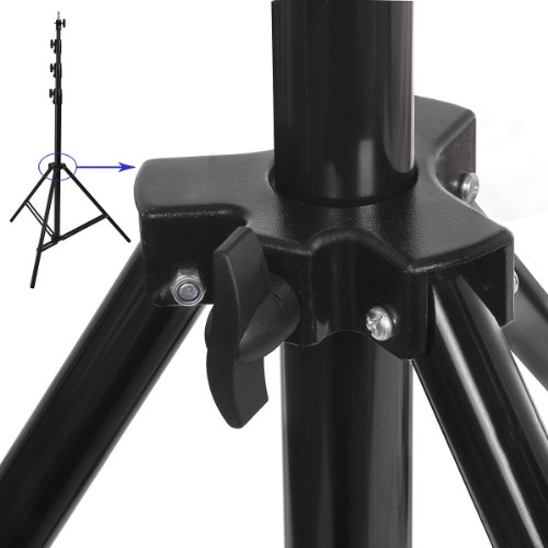 "Ravelli ALS Full 10' Air Cushioned Light Stand With Included Adaptor To Also Support 1/4"" and 3/8"" Photo Equipment and Heavy Duty Carry Bag"