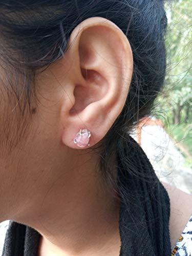 Pink Rhodochrosite Stud, 925 Sterling Silver Stud, Bridesmaids Gift, Handmade Jewelry, Gift For Women, Teardrop Earrings, Promise Earrings, Boho Earrings, Prong Stud, Hippie Stud, Southwestern Earring