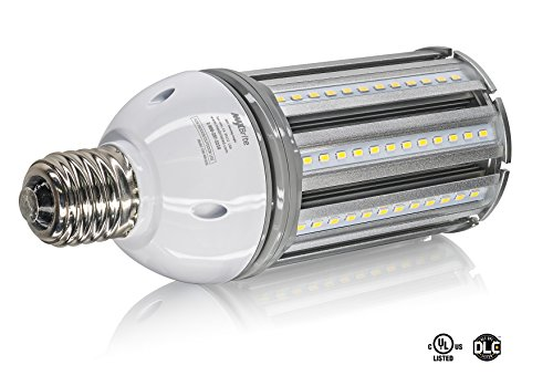 36W LED CORN LIGHT BULB 4000K Replaces 400W, 6,480 lumens Mogul Base E39, 100-277V AC UL/cUL DLC (Base Mogul Ex39)