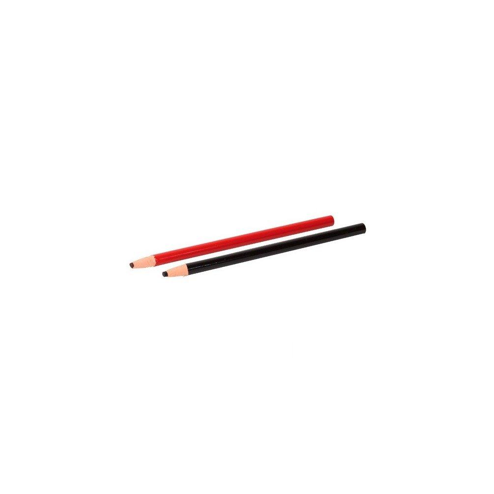 Sidamo - Blister de 2 crayons gras à tracer de couleur Noir et Rouge - 11200117 - Sidamo