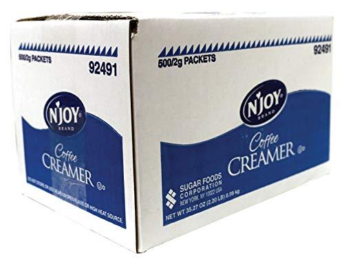 Packets Coffee Creamer (N'Joy Single-Serve Non-Dairy Coffee Creamer Packets, Box Of 500)