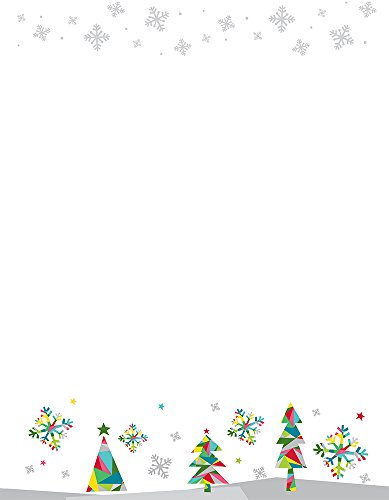 Great Papers! Prismatic Holiday Letterhead, 80 count, 11