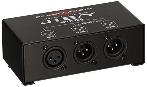 Galaxy Audio JIBY 2 Way XLR Splitter (Xlr Splitter Box)
