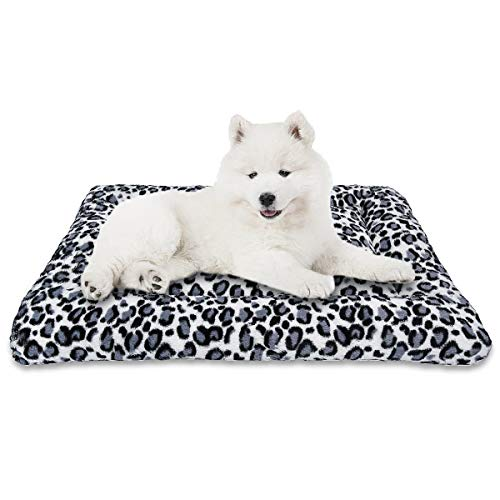 "MIXJOY Dog Bed Crate Mat 30""/36""/42"" Washable Anti-Slip Kennel Pad for Large Medium Small Dogs and Cats (30-Inch)"