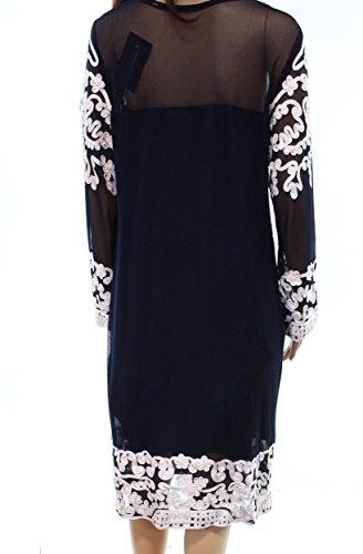 Plus amp Blue Navy Dress Betsy Adam Soutache s Sheath Women PAd4wq