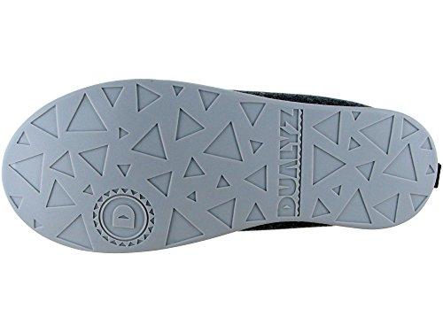 Pantofola Classica Kush Unisex Dualyz Con Suola Rimovibile Grigio Scuro / Grigio Chiaro