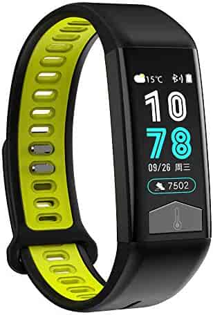Tonsee Smart Watch Bracelet, IP68 Deep Waterproof Watch Wristband with Heart Rate Blood Pressure Monitor,Temperature ECG for Android/iOS