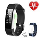 Letsfit Fitness Trackers HR, Activity Tracker Watch with Heart Rate Monitor, IP67 Standard Smart Bracelet with Calorie Counter Pedometer Watch for Women Men