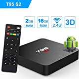 T95 S2 Android 7.1 tv box with 2GB RAM/16GB ROM Amlogic S905W Quad-core HDMI HD Support 2.4G Wifi 3D 4K