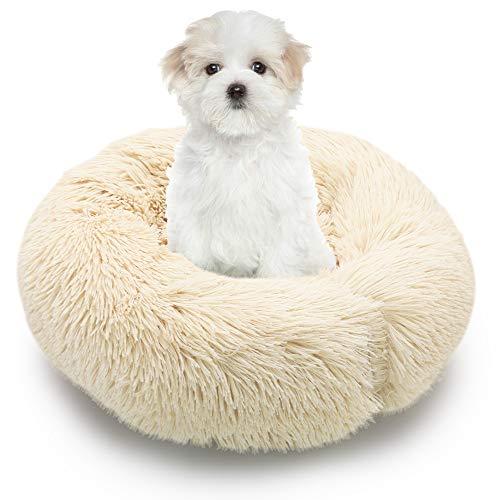 🥇 MMTX Cama Perros Redonda Cojín Gatos Sofá para Perros Donut Suave Cama Mascotas Calentito Lnvierno Felpa Gato Dormido Cama Pequeña Perro Cama Lavable Resbalón Prueba